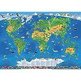Kinder Weltkarte XXXL/1,95 Meter