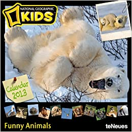2013 ng funny animals for kids grid calendar