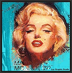 26in x 26in Monroe 192 by Luz Graphic Studio - Black Floater Framed Canvas w/ BRUSHSTROKES