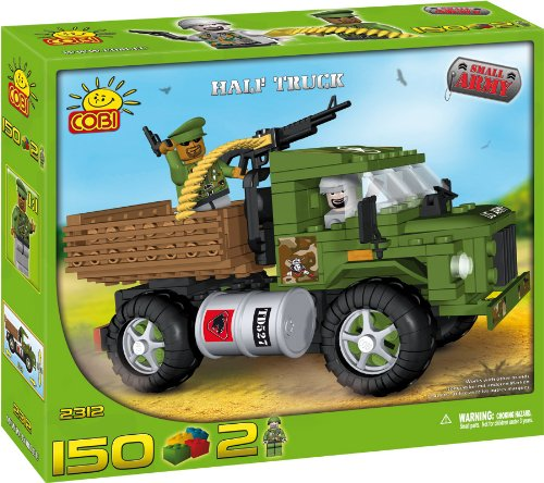 COBI 2312 – Small Army Militärlastwagen, Militär Truck, US Truck mit Lafette, 150 Teile 2 Figuren günstig