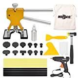 Mookis PDR Tools Paintless Dent Repair Puller Kits 34pcs with Dent Lifter Suction Cup Hot Glue Gun Sticks Pro Tabs -Tools Bag Included