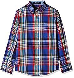 Gant Boys' Shirt (GBSFF0027_Indigo Blue_XXL)