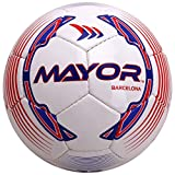 Mayor World Barcelona Football, Size 5 (Red/Blue)