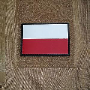 3 D rubber drapeau patch pologne polska badge écusson wojsko polskie tactical airsoft armée varsovie pologne utilisation uniforme 5 x 8 cm - 17047