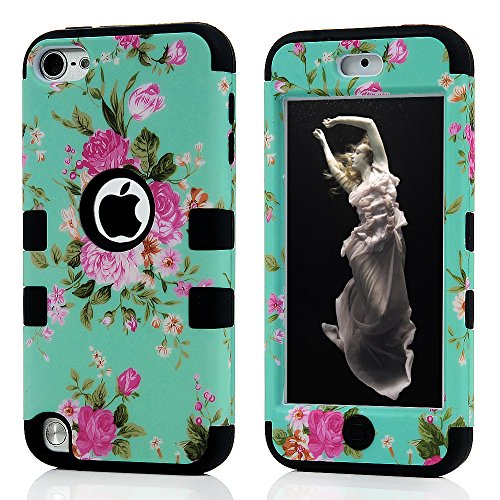 iPod 5 Case,iPod Touch 5 Case,iTouch 5 Case - MOLLYCOOCLE 3 in 1 Combo Hybrid Shockproof Silicone Plastic Protective Hard Case Cover for Apple iPod Touch 5 5th Generation (Ipod Battery 5th Generation compare prices)