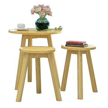 Legno solido tavolo e sedie Tavolino Piccolo laterale Set