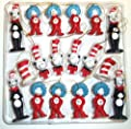 Dr. Seuss The Cat in the Hat Figurine Ornaments, Set of 18 by Giftco