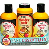 Anti Monkey Butt Bare Essentials Gift Pack - 2 in 1 Shampoo 12 oz - Anti Friction Powder 6 oz - Body Wash 12 oz