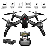 ElementDigital MJX Bugs 5W GPS Drone App IOS Android FPV Drone Kit 1080P Camera Record Video 1-Key RTH Altitude Hold Track Flight Headless Brushless Motor, Bonus Battery, Adjustable Camera Angle (Color: B5w + 2 Battery)