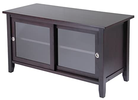 Winsome Sliding Glass Door TV Media Stand