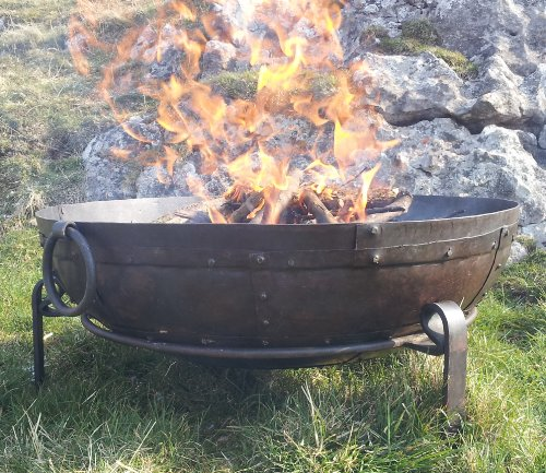 indian-fire-bowl-set-40cm-bowl-grill-stand-kadai-style-bowl-fire-pit