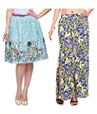 Addyvero Geometric Print Women's Layered Multicolor Skirt