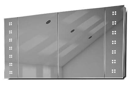 Saffi LED Demist Bathroom Cabinet Sensor & Internal Shaver Socket k22