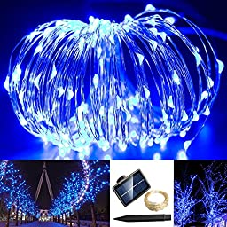 Solarmks TS-1150 1800mAH 150 LED Copper Wire Starry String Lights, Blue