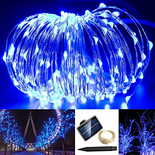 72% OFF! Solarmks TS-1150 1800mAH 150 LED Copper Wire Starry String Lights, Blue