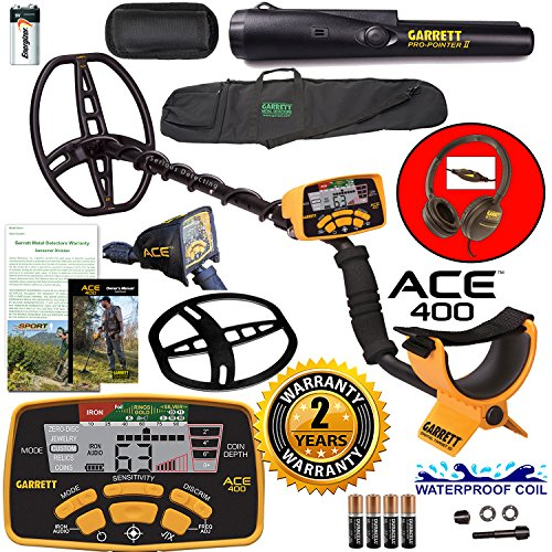 garrett-ace-400-metal-detector-with-waterproof-coil-pro-pointer-ii-and-carry-bag
