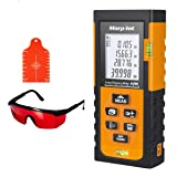 Laser Measure,196ft Laser Tape Measure with Target Plate & Enhancing Glasses, Laser Measuring Device with Pythagorean Mode, Measure Distance, Area, Volume Calculatio (Color: 60M Laser Measure)