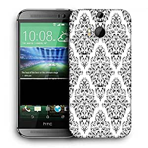 Snoogg Mixed Design Pattern Printed Protective Phone Back Case Cover For HTC One M8