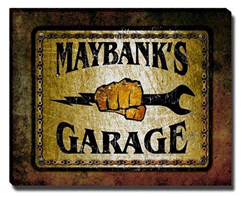 maybanks-garage-stretched-canvas-print