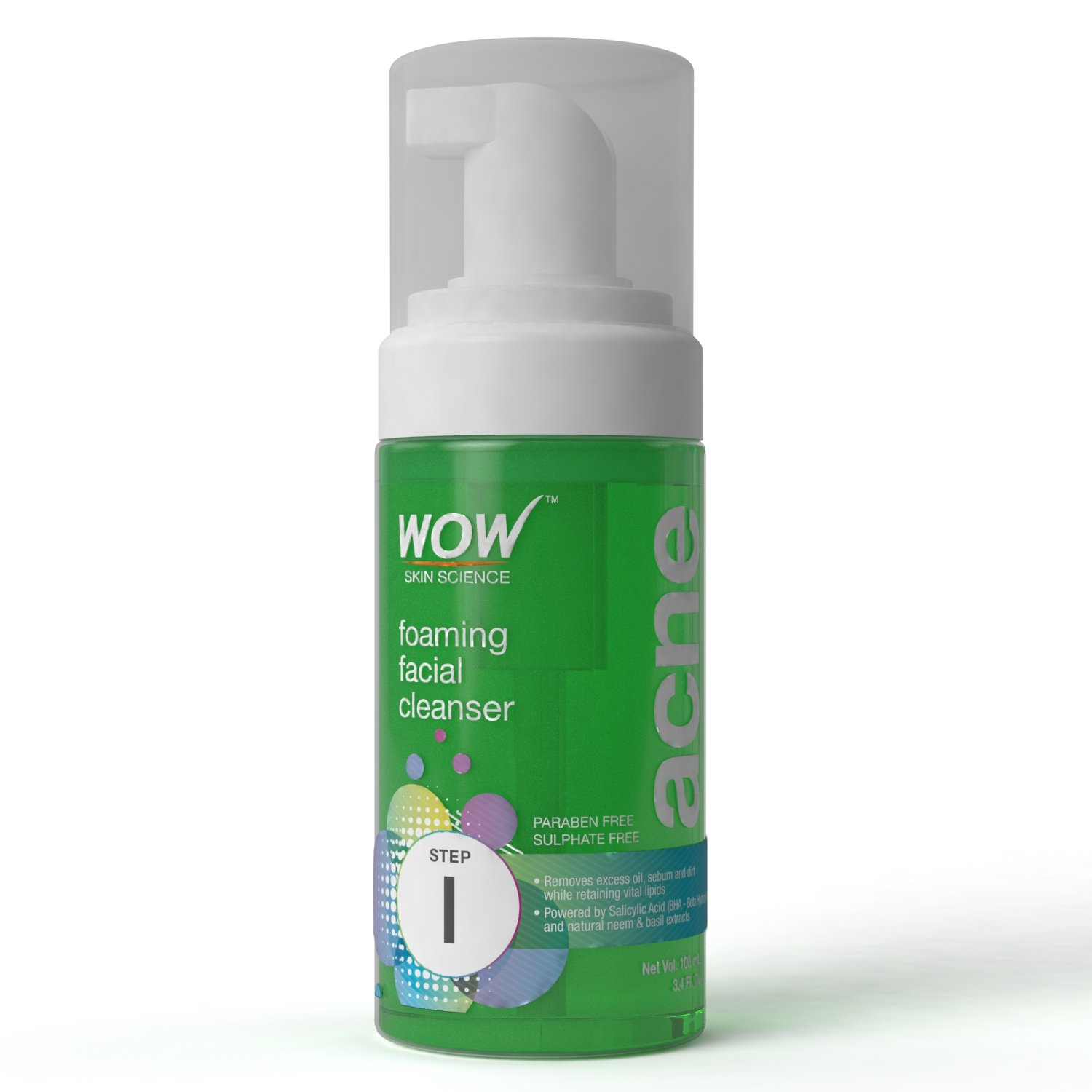 WOW Acne DEEP IMPACT TREATMENT KIT Foaming Cleanser