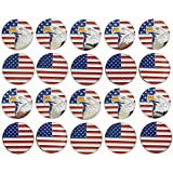 Golf Ball Marker Magnetic USA Flag Lot Of 20