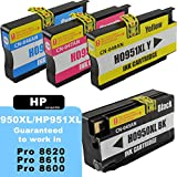 GREAT VALUE HP 950XL and HP 951XL Compatible Ink Cartridges Black and 3 Colours. Guaranteed to fit: HP Officejet Pro 8600, Pro 8610, Pro 8620, M251, M276, 8600e