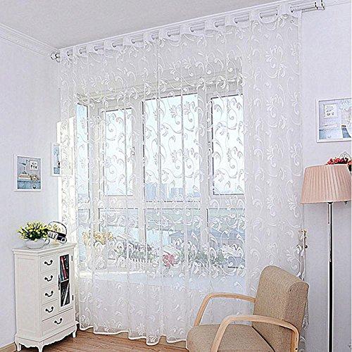 Voberry® tende per casa, 1 pz fiore di modo tenda della finestra ...
