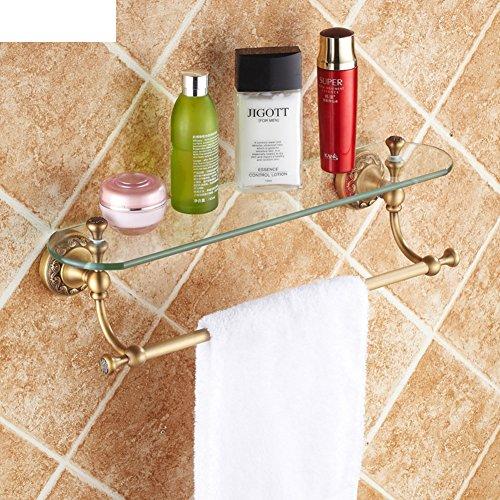 Cosmetici scaffali pieni di rame antico/specchiera in vetro /mensola barra di tovagliolo d'epoca-A