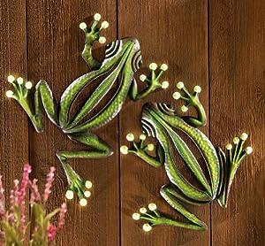 Amazon.com - Decorative Glowing Garden Frogs Wall Decor - Yard Signs