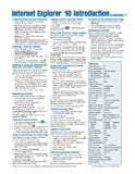 Internet Explorer 10 Introduction for Windows 7 Quick Reference Guide (Cheat Sheet of Instructions, Tips & Shortcuts - Laminated Card)