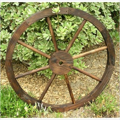 Wagon Wheel Trellis Feeder in Burnt Brown