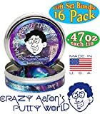 Crazy Aaron's Thinking Putty Mini Tins Complete Gift Set Bundle Featuring Hypercolor, Glow in the Dark, Super Illusion, Electric Color, Exclusive