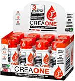 Creatine Monohydrate Shots BY CREAONE using Creapure Creatine, This is the World's FIRST and ONLY Stable Liquid Creatine Backed by Clinical Studies, Containing the Recommended 3 Grams of Creatine NEEDED to MAXIMIZE MUSCLE with NO POWDER, NO BLOATING, NO UPSET STOMACH, and ONLY 15 CALORIES and 0 GRAMS OF SUGAR. Our Creatine is Made in Ireland in A GMP certified Facility and is Third Party Tested and Approved. Compare to OPTIMUM NUTRITION'S CREATINE and Find That CREAONE'S Bioavailability Technology Helps Provide More CREATINE TO THE MUSCLE, With NO GRITTY TEXTURE, and NO WASTED POWDER RESIDUE.