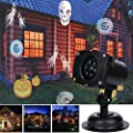 TD Design Halloween Decoration 12 Switchable Themes Landscape Projector Star Light Kids Night Light Waterproof LED Spotlight Wall Light for Outdoor Indoor and Lawn, Christmas Light, Star Projector