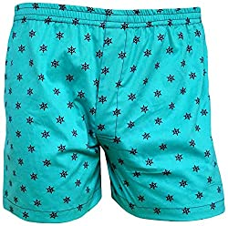 Shy Guy Pleasure Wear Men's Cotton Boxer Shorts (Light Blue)