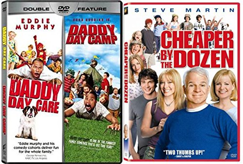 Cheaper by the Dozen & Daddy Day Care 1 + 2 movie DVD Family Set (2-Pack) movies