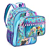 Disney Frozen Girls Deluxe Summer Set - Backpack, Lunch Kit, Water Bottle, Lip Gloss, Sunglasses & Bracelets