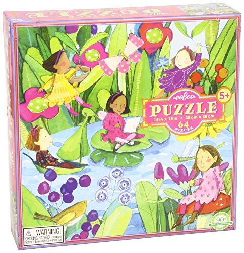 eeboo Fairies by the Pond 64 Piece Puzzle - 1