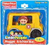 Fisher Price Little People yellow school bus and passenger
