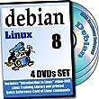 Debian 8, 4-disks DVD Installation and Reference Set
