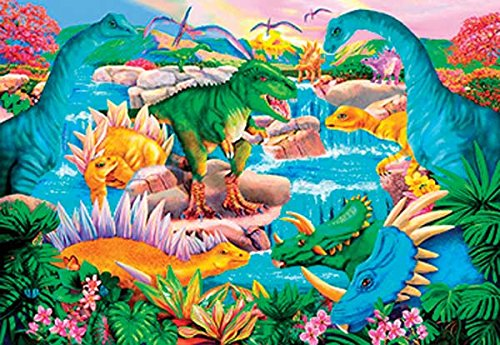 Prehistoric Waterfall a 100-Piece Jigsaw Puzzle by Sunsout Inc.