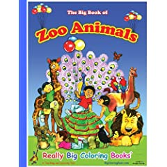 Zoo Animals Giant Super Jumbo Coloring Book Paperback