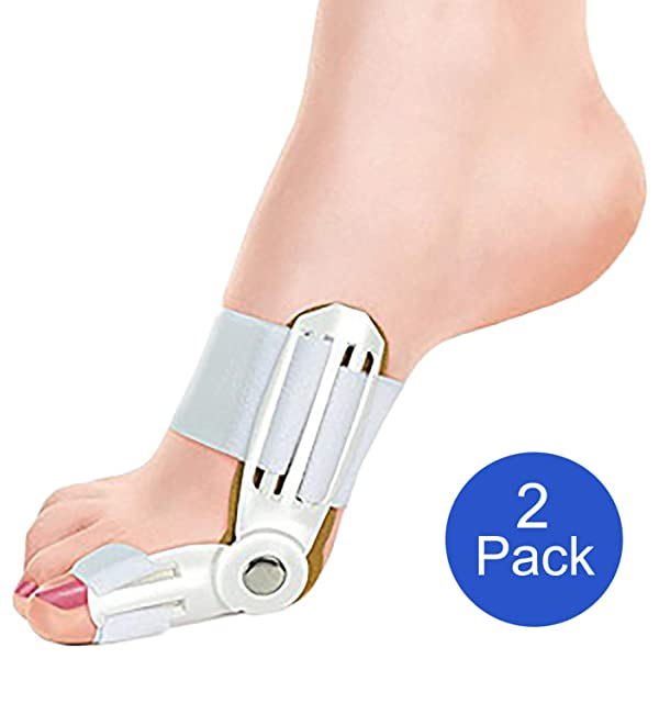 Extreme Fit 2-Pack Bunion Corrector Relief Orthopedic Splint Brace for Women and Men Hammer Toe Straightener, Turf Toe Brace, Toe Seperators, Hallux valgus Relief - 2 Pack (Color: White, Tamaño: One Size)
