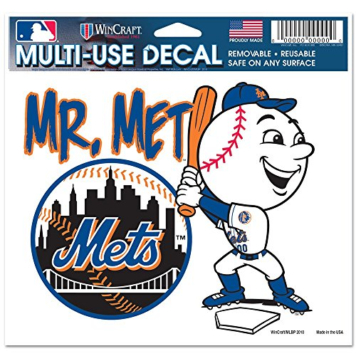New York Mets Official MLB 4.5 inch x 6 inch Car Window Cling Decal by Wincraft (Ny Mets Window Decal compare prices)