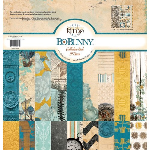 Bo Bunny Somewhere in Time Collection Pack, 12 by 12-Inch (Bo Bunny Press compare prices)