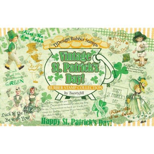TJ Designs Rubber Stamp Set, St. Patrick's Day