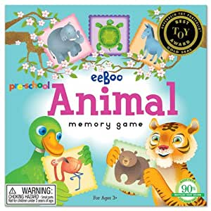 eeBoo Pre School Animal Memory Game