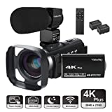 Video Camera Camcorder 4K Ultra HD VideoSky YouTube Vlogging Camera 48.0MP 3.0