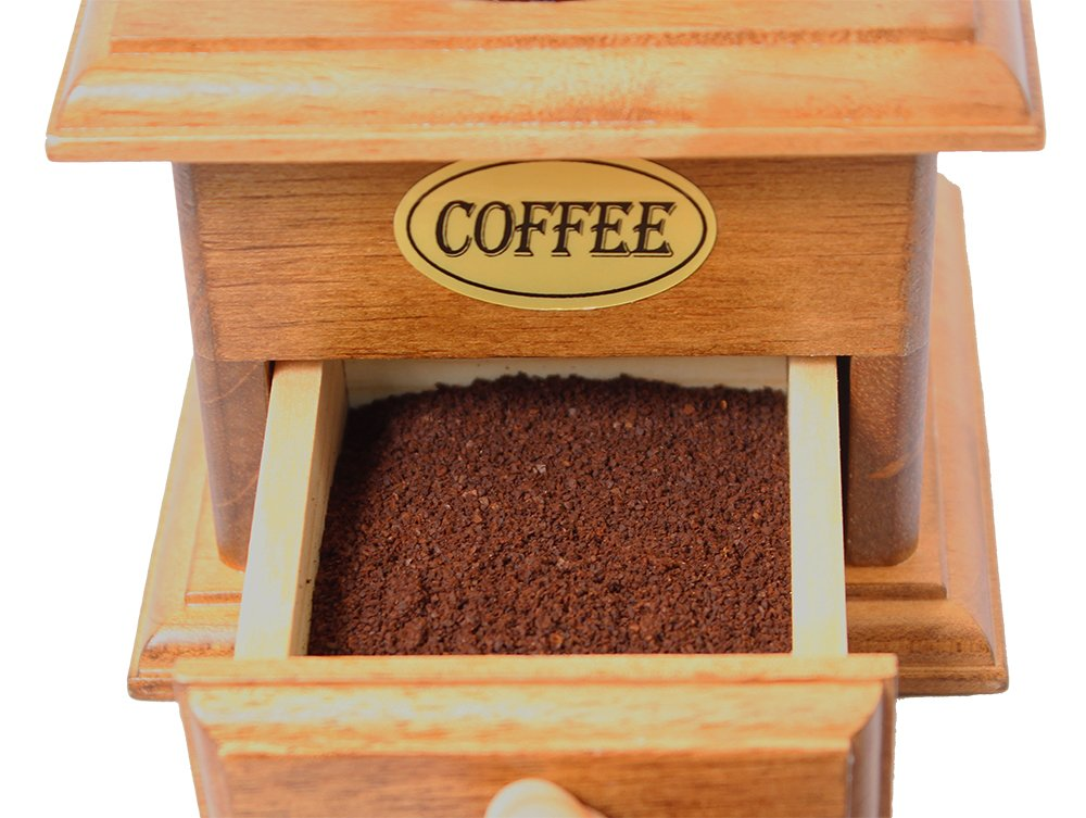 Manual Cast Iron Coffee Bean Grinder with Drawer 4