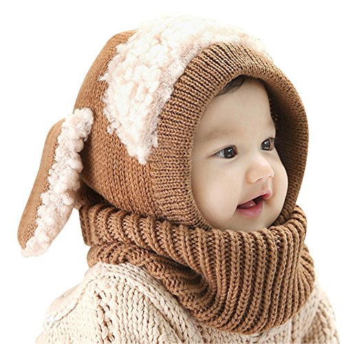 Lean In Magnificent Baby Unisex-Warm Puppy Cloak Scarf Shawl Baby Infant Smart Hat - 2016 best gift in USA